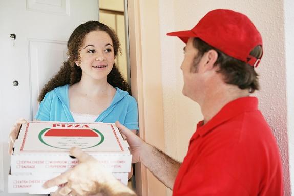 Teen Girl Orders Pizza